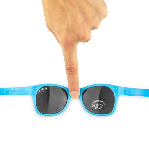 Junior Sunglasses with strap - Blue