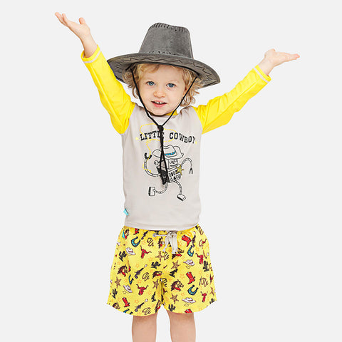 Boys Little Cow Boy UV Rash Vest
