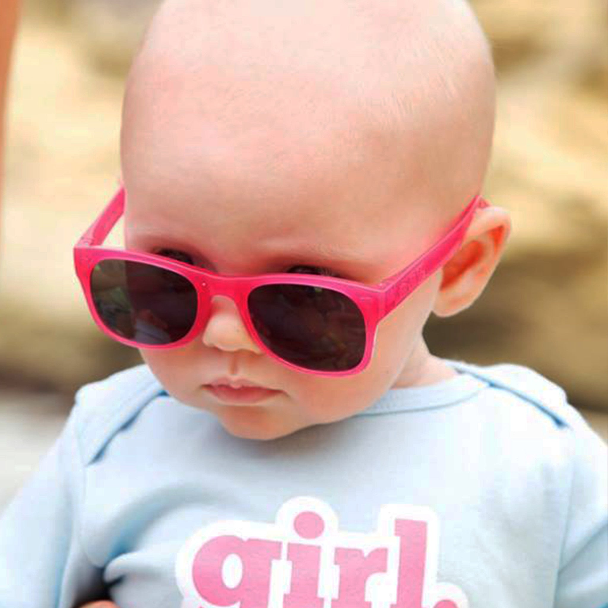 94abd5ac4eb Baby Sunglasses with strap - Raspberry – Elly la Fripouille USA
