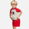 kids boys uv swimwear rash vest rash guard swim short set upf 50+