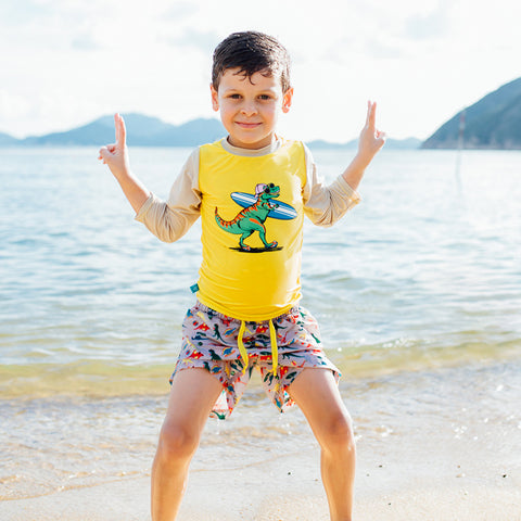 Boys Dinosaur UV Rash Vest