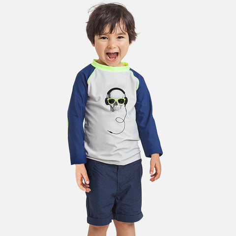 DJ Skull UV Boys Rash Vest