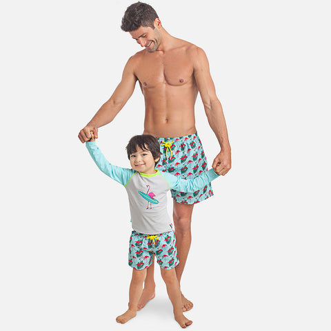 Flamingo Boy UV Rash Vest