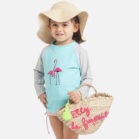 Flamingo Girl UV Rash Vest