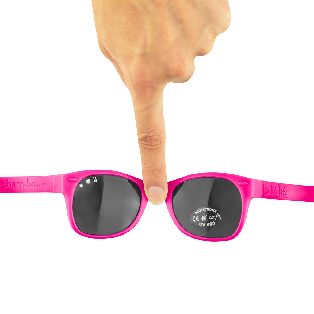 Junior Sunglasses with strap - Raspberry