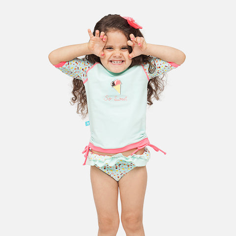 Girls Ice Cream UV Rash Vest