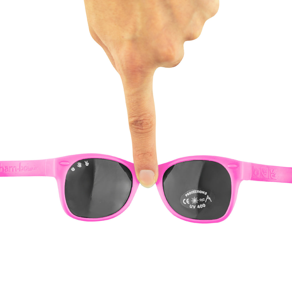 Baby Sunglasses with strap - Pink Lavender