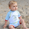 kids boys uv sunsuit swimsuit beachwear upf 50+