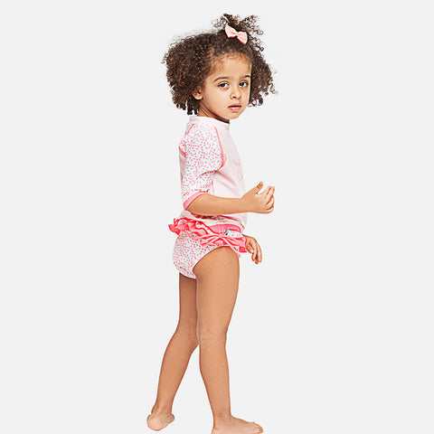 Girls Ma Petite Cherie UV Ruffle Swim Bikini Bottom