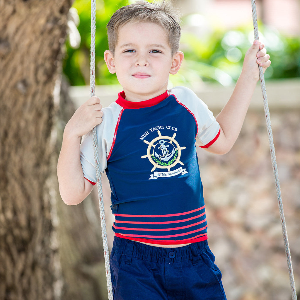 Kids boys uv rash guard rash vest swimwear upf 50+