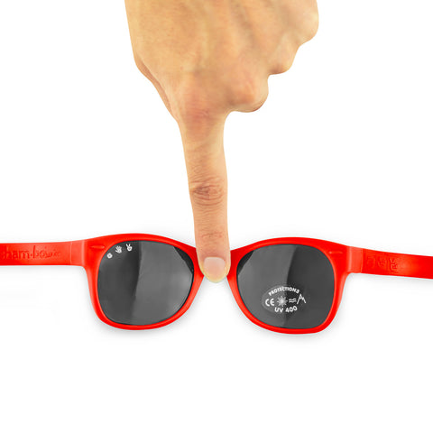 Junior Sunglasses with strap - Red