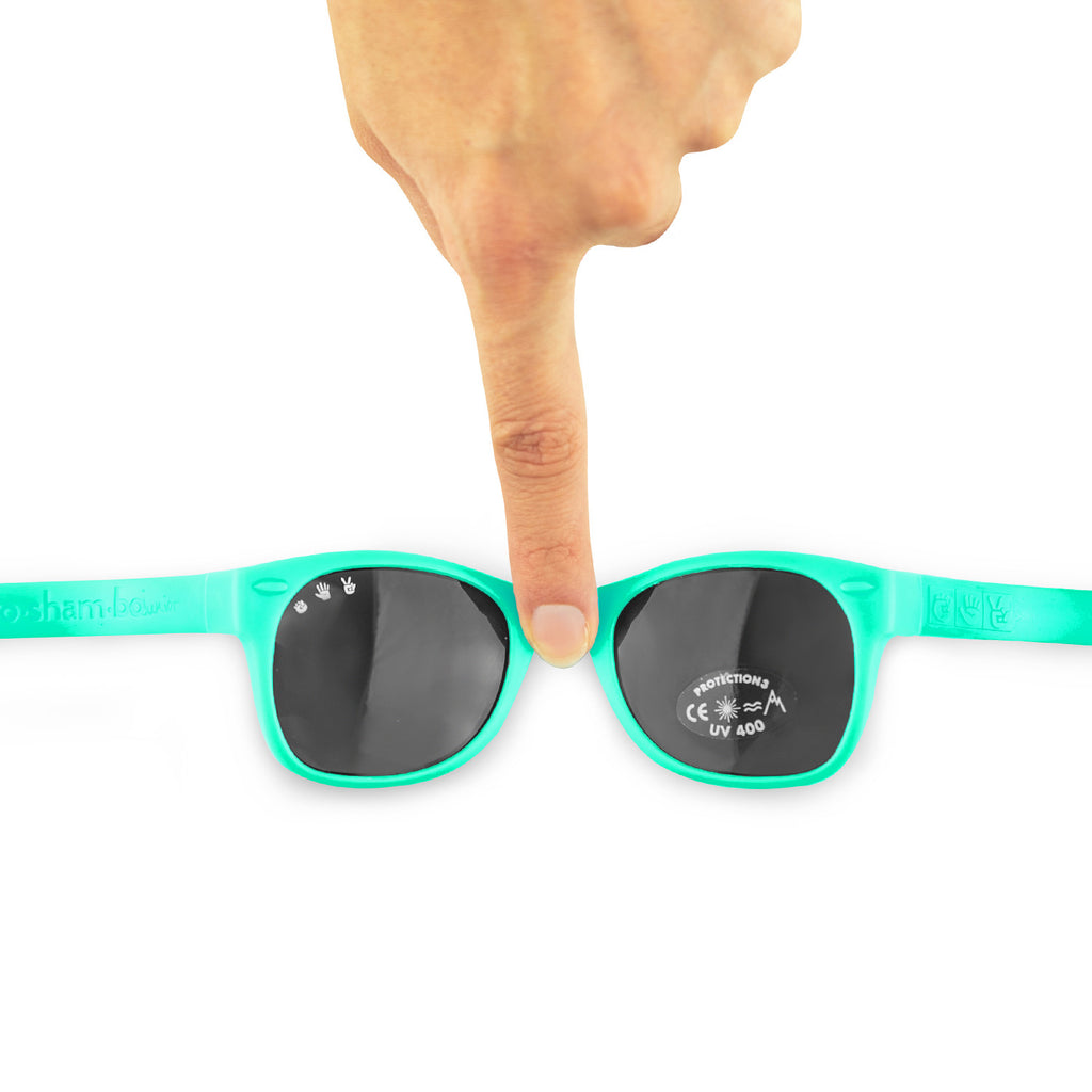 Baby Sunglasses with strap - Turquoise