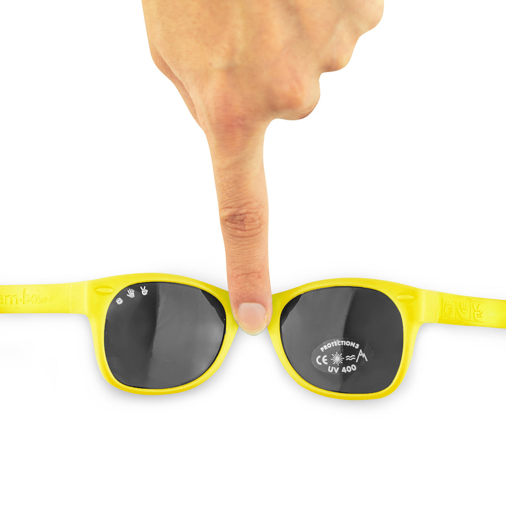 Junior Sunglasses with strap - Yellow