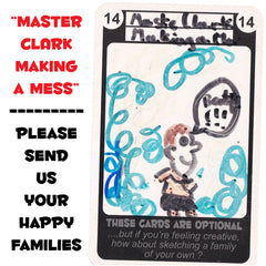 Happy Families Card Game - Master Clark Making a Mess