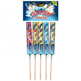 STANDARD FIREWORKS - ASTRO ROCKETS - LOW NOISE - (5 PACK)