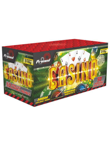 PRIMED PYROTECHNICS - CASINO - 50 SHOTS - 1.3G LOUD