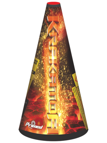 PRIMED PYRO - KRAKATOA FOUNTAIN - LARGE FOUNTAIN 500 GRAMS - MULTIBUY 2 FOR £40