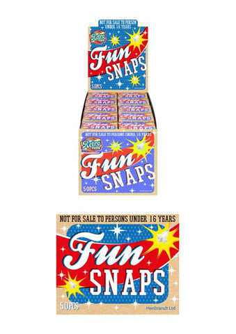 50 X FUN SNAPS BOXES - 50 SNAPS PER BOX