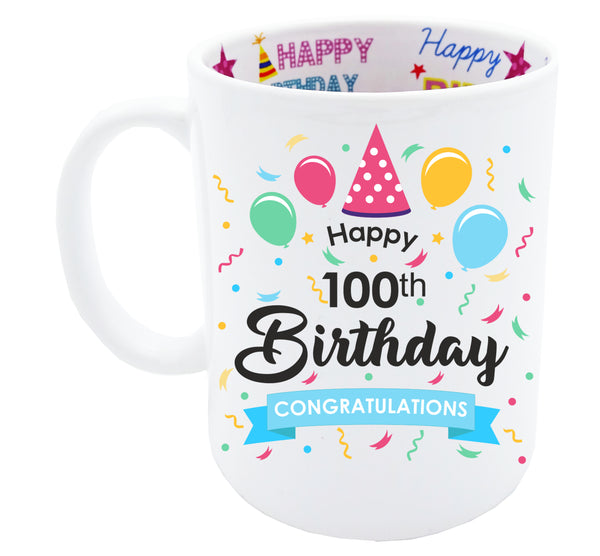 100th Birthday, Tea Coffee Mug Birthday, 100th Birthday Gift, 100th Birthday Idea