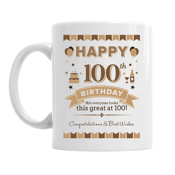 100th Birthday,  Coffee Mug, 100th Birthday Gift, 100th Birthday Idea