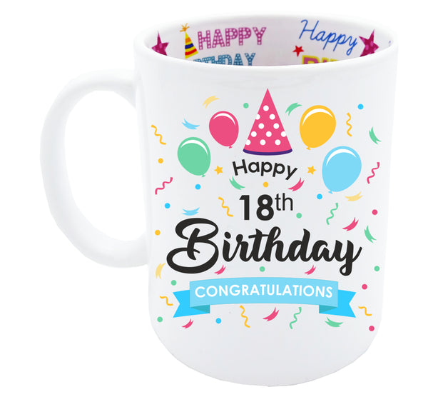 18th Birthday, Tea Coffee Mug Birthday, 18th Birthday Gift, 18th Birthday Idea