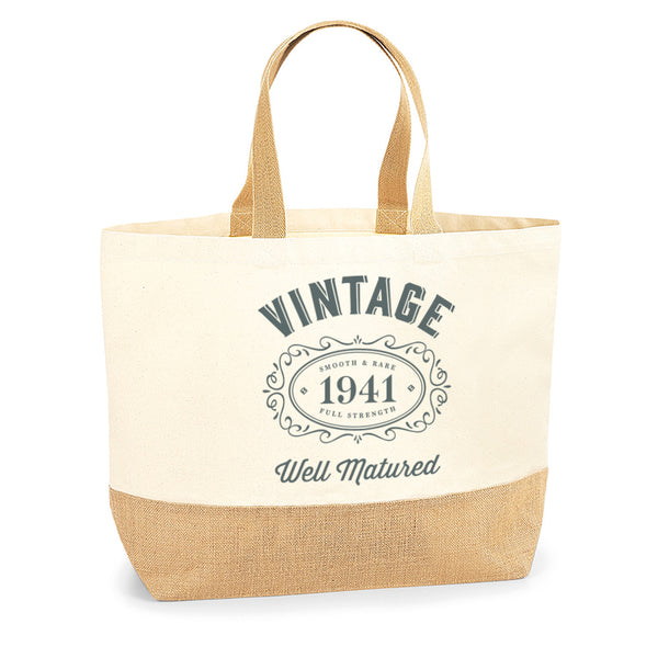 80th Birthday, 80th Birthday Idea, 80th Birthday Bag, Tote, Shopping Bag, Great 80th Birthday Present, 80th Birthday Gift 1940.