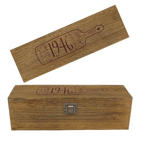 75th Birthday, Vintage Wine Box, 75th Birthday Gift, 75th Birthday Idea, Happy Birthday, 75th Birthday Present for 75 year old!