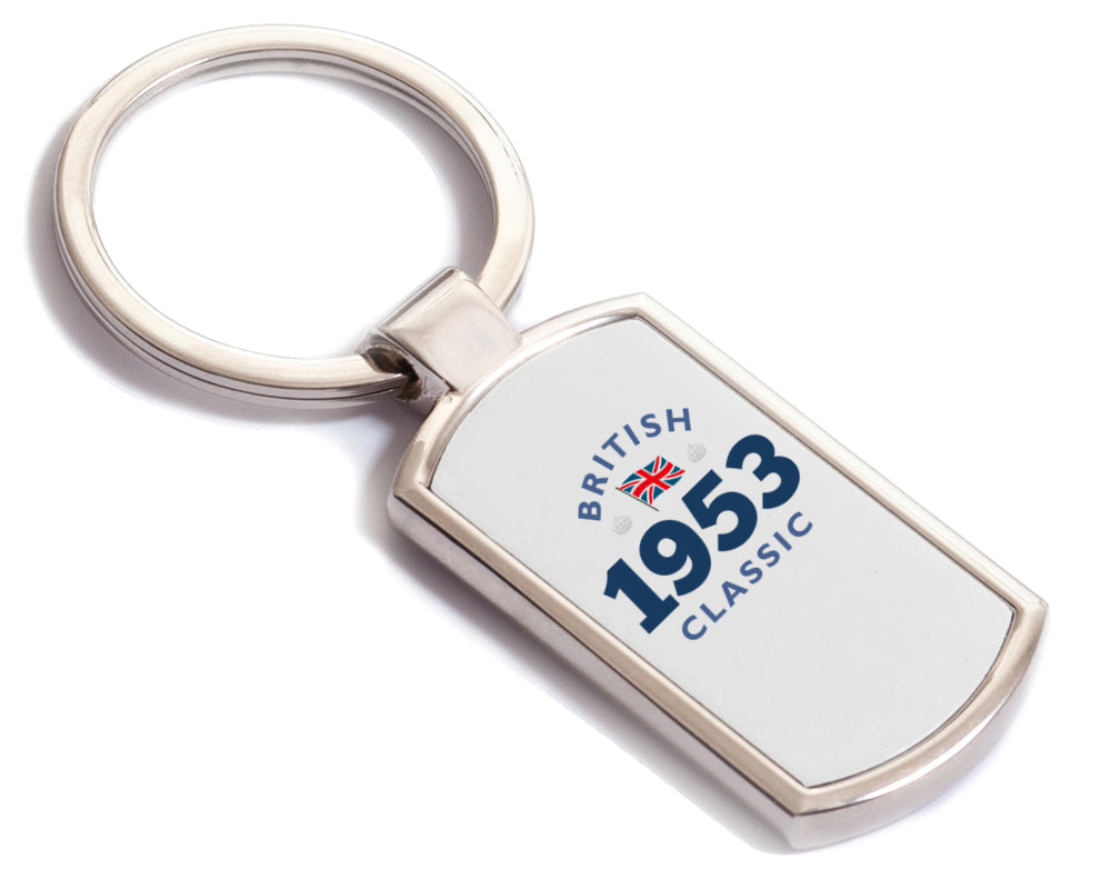 British Classic 1953 Keyring Birthday Gift 65th