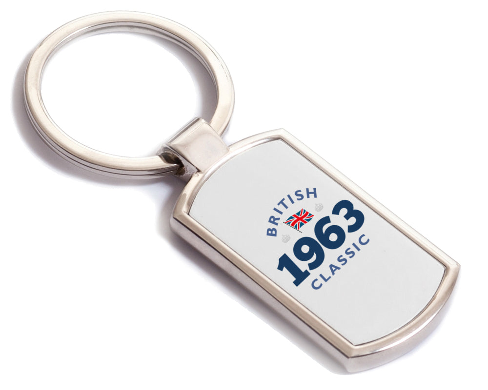 British Classic 1963 Keyring, 1963 Birthday Gift, 55th birthday gift, birthday gift, Key ring, Birthday Gift Ideas, Party Gift, Present, birthday present, 55, 55 years old, 55 year old gift
