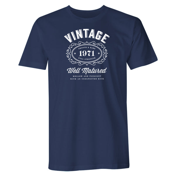 Men's 50th Birthday T Shirt Gift - Vintage Bourbon