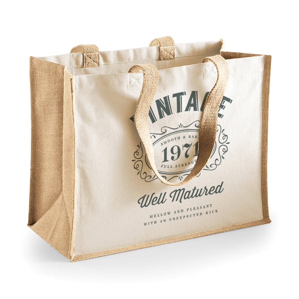 50th Birthday Gift Idea Shopping Bag Tote Present Birthday Bag.