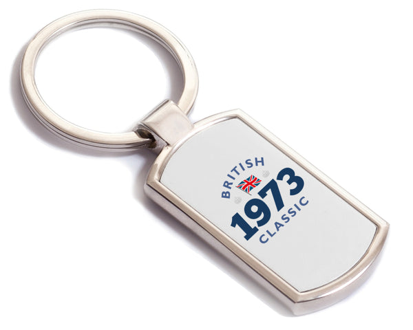British Classic 1973 Keyring, 1973 Birthday Gift, 45th birthday gift, birthday gift, Key ring, Birthday Gift Ideas, Party Gift, Present, birthday present, 45, 45 years old, 45 year old gift