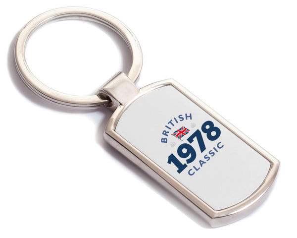 British Classic 1978 Keyring, 1978 Birthday Gift, 40th birthday gift, birthday gift, Key ring, Birthday Gift Ideas, Party Gift, Present, birthday present, 40, 40 years old, 40 year old gift