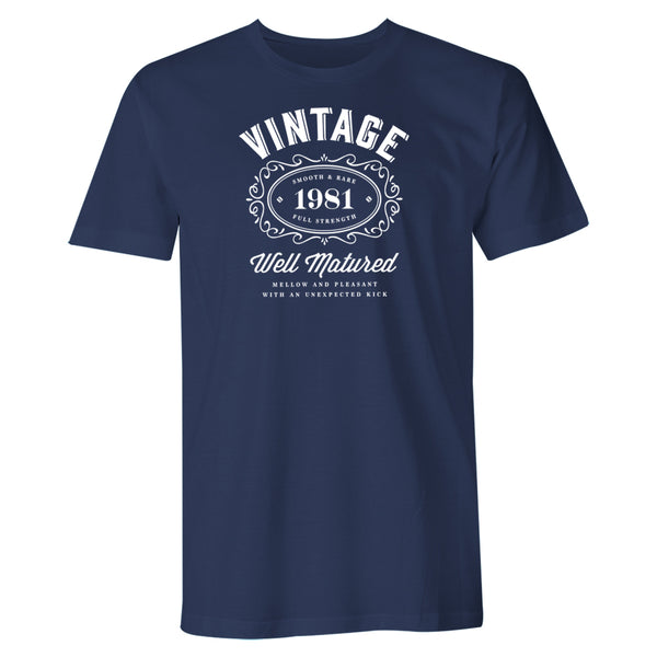 Men's 40th Birthday T Shirt Gift - Vintage Bourbon