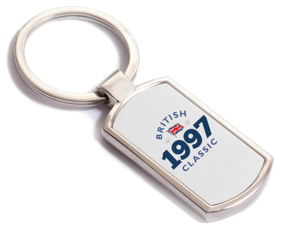 British Classic 1997 Keyring, 1997 Birthday Gift, 21st birthday gift, birthday gift, Key ring, Birthday Gift Ideas, Party Gift, Present, birthday present, 21, 21 years old, 21 year old gift