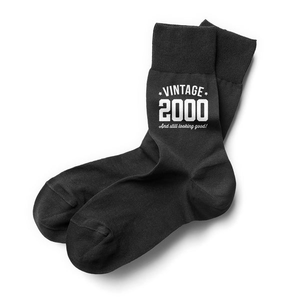21st Birthday Gift, Vintage 1998 Men's Black Socks, Present, Gift Idea, Dad