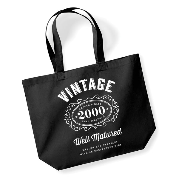 Copy of 20th Birthday, 20th Birthday Idea, 20th Birthday Bag, Tote, Shopping Bag, Great 20th Birthday Present, 20th Birthday Gift, 2000 Birthday, Vintage