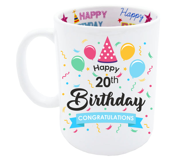 20th Birthday, Tea Coffee Mug Birthday, 20th Birthday Gift, 20th Birthday Idea