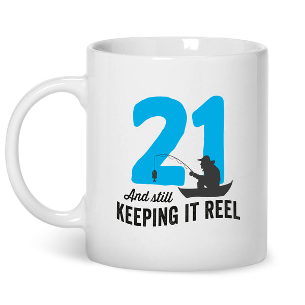 21st Birthday,  Birthday mug, Fishing Birthday, 21st Birthday Gift, 21st Birthday Idea, Happy Birthday, 21st Birthday Gift for 21 year old