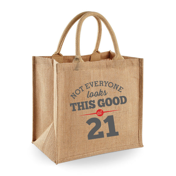 21st Birthday Bag, Gift, Womens Bag, Ladies Shopping Bag, Tote Bag, Birthday Idea, Keepsake