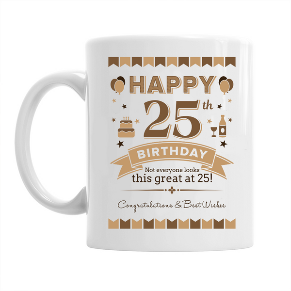 25th Birthday,  Coffee Mug, 1994 Birthday, 25th Birthday Gift, 25th Birthday Idea