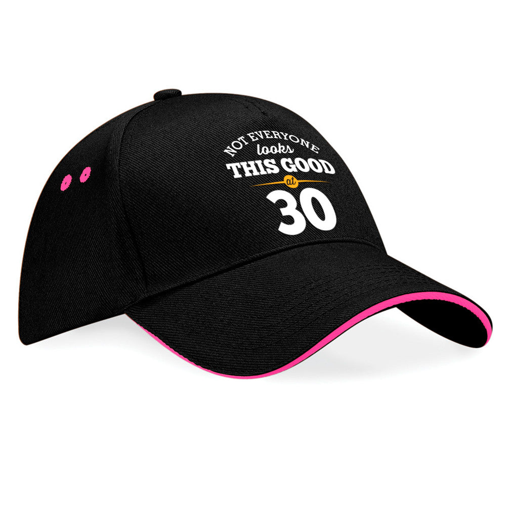 30th Birthday Gift Idea Vintage Hat Baseball cap With Contrasting Sandwiched Peak
