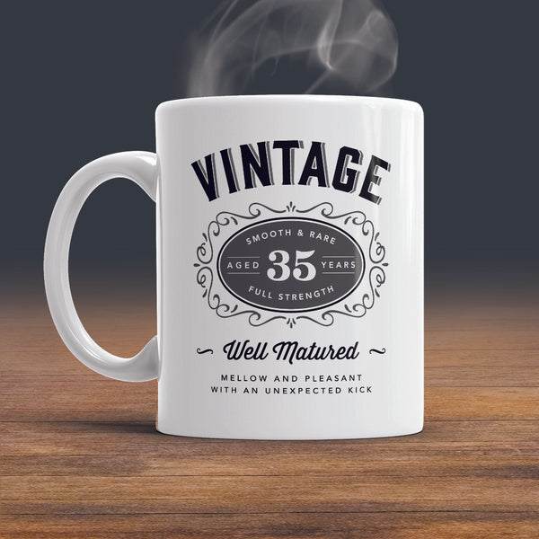 35th Birthday Gift, 35th Birthday, 1985 Birthday, 35th Birthday Idea, Vintage, Bourbon, Happy Birthday, 35th Birthday Present, 35 year old