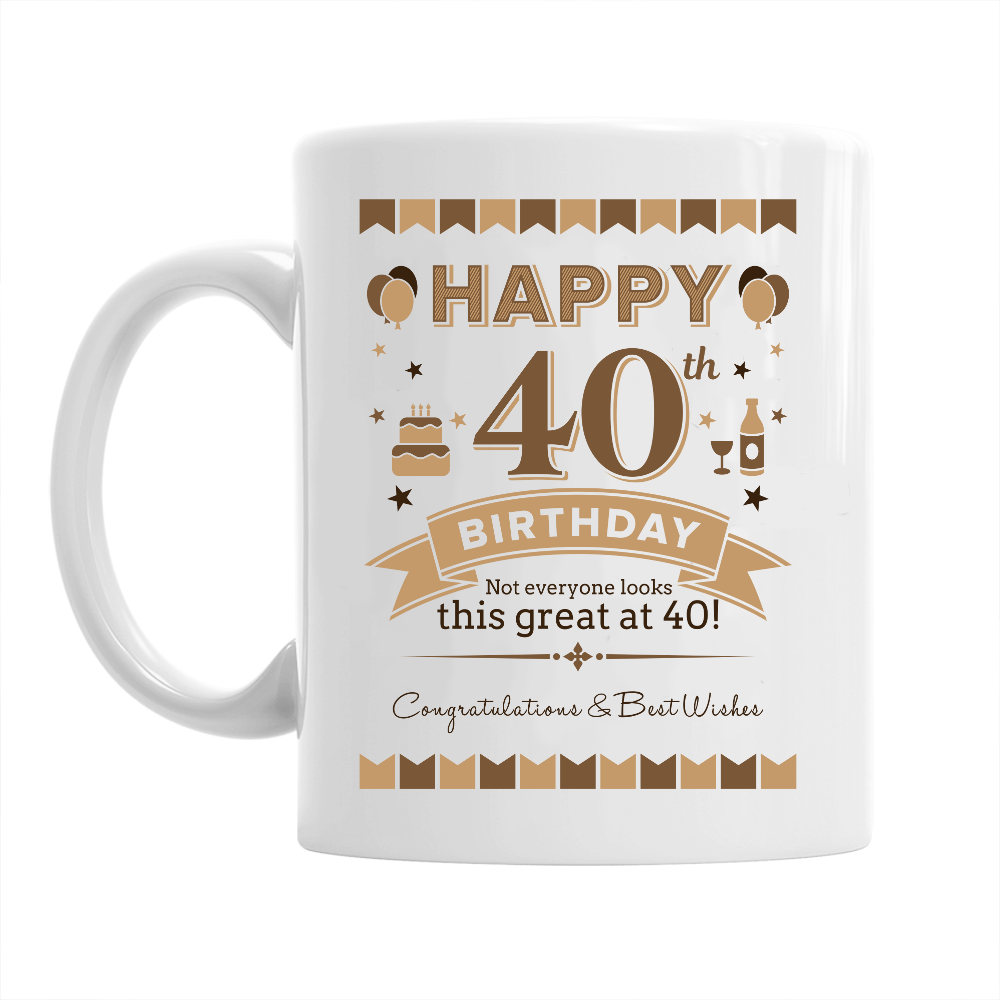 40th Birthday,  Coffee Mug, Birthday Present, 40th Birthday Gift, 40th Birthday Idea
