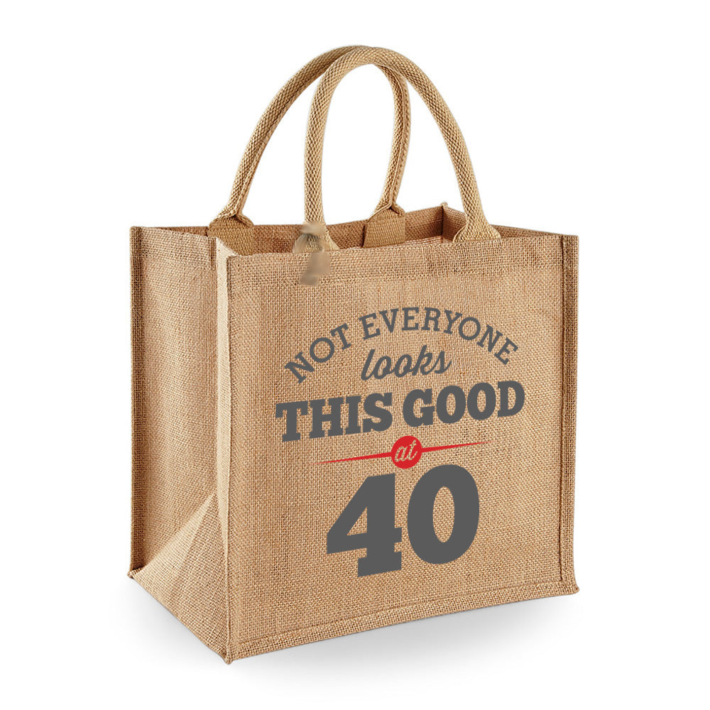 40th Birthday Bag Gift Womens Ladies Shopping Tote Bi Design Invent Print