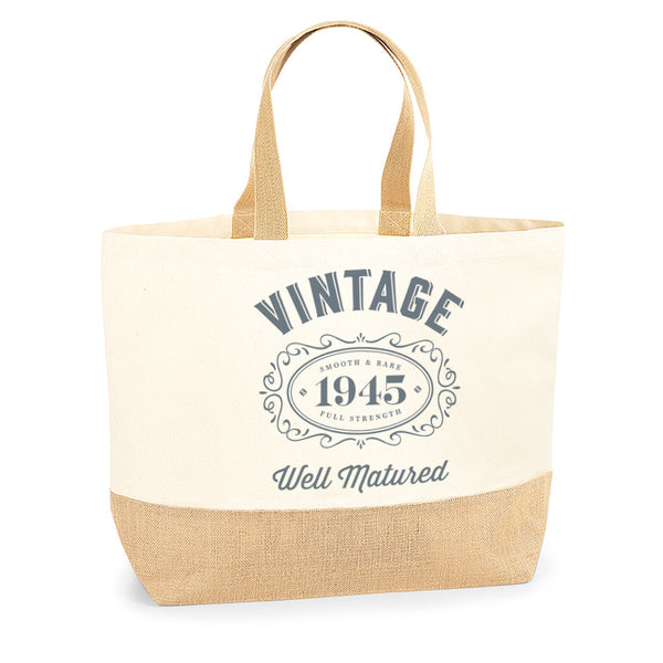 75th Birthday, 75th Birthday Idea, 75th Birthday Bag, Tote, Shopping Bag, Great 75th Birthday Present, 75th Birthday Gift 1945 Birthday, Vintage Bourbon