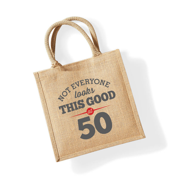 50th Birthday Bag, Gift, Womens Bag, Ladies Shopping Bag, Tote Bag, Birthday Idea, Keepsake
