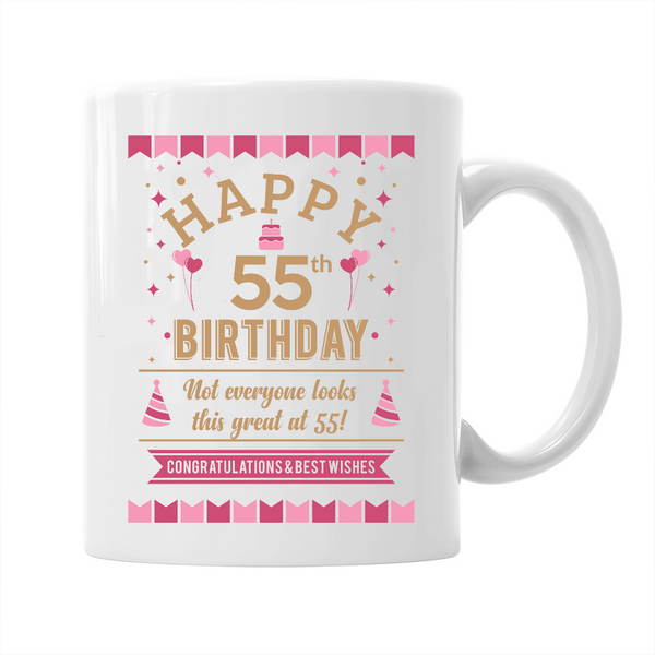 55th Birthday,  Coffee Mug, 1963 Birthday, 55th Birthday Gift, 55th Birthday Idea