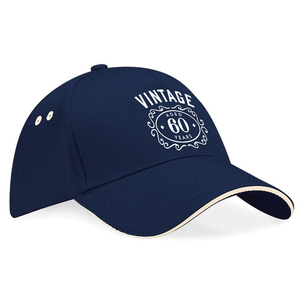 60th Birthday Gift Idea Funny Vintage Baseball Cap Hat