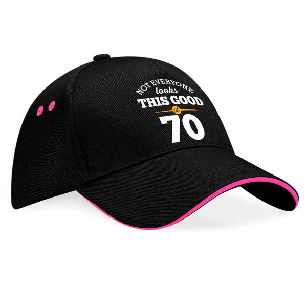 70th Birthday Gift Idea Vintage Hat Baseball Cap With Contrasting Sandwiched Peak